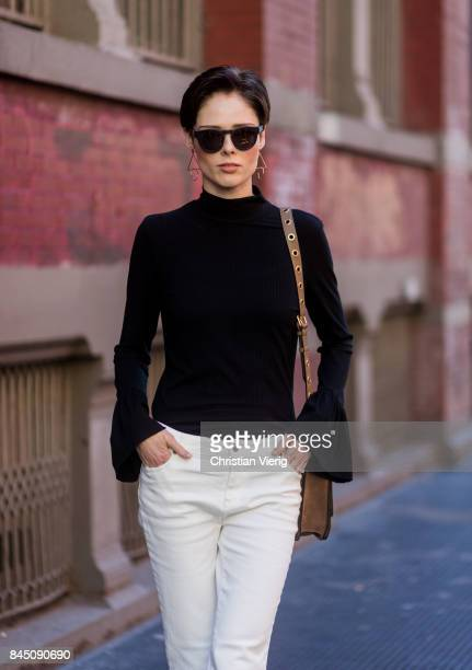 Coco Rocha seen in the streets of Manhattan outside Rebecca Minkoff during New York Fashion Week on September 9 2017 in New York City