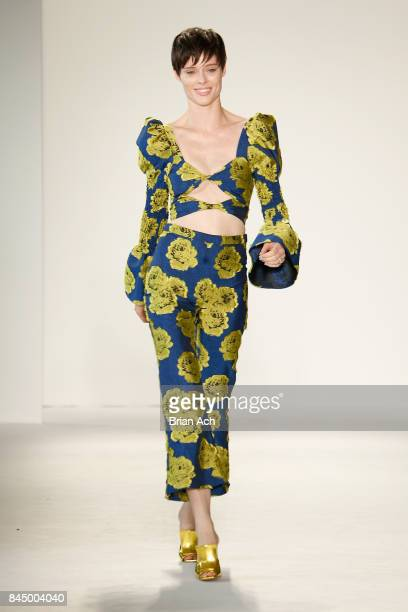 Coco Rocha walks the runway at the Christian Siriano fashion show during New York Fashion Week The Shows at Pier 59 on September 9 2017 in New York...