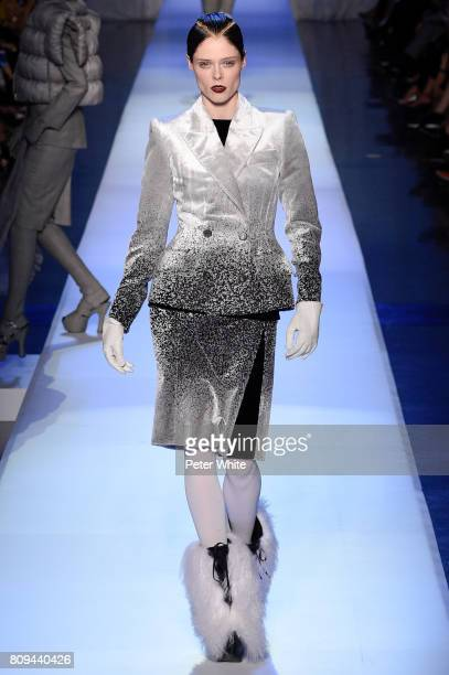 Coco Rocha walks the runway during the Jean Paul Gaultier Haute Couture Fall/Winter 20172018 show as part of Haute Couture Paris Fashion Week on July...