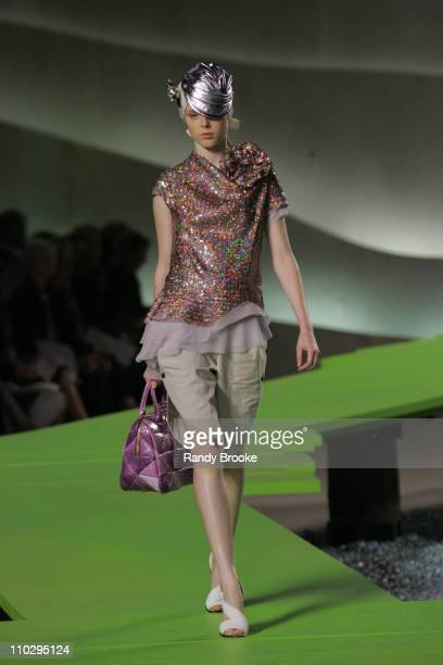 Coco Rocha wearing Marc Jacobs Spring 2007 during Olympus Fashion Week Spring 2007 Marc Jacobs Runway at New York State Armory in New York City New...