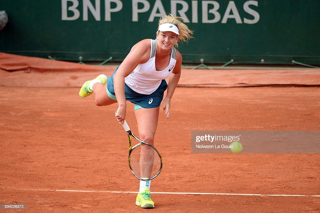 Coco Vandeweghe during the Women's Singles second round on day four of the French Open 2016 at Roland Garros on May 25, 2016 in Paris, France.