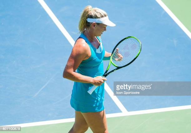 CoCo Vandeweghe of the United States takes a moment during a set during the WTA Tour Bank of the West Classic final match at Taube Family Tennis...