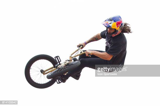 Coco Zurita in action during the BMX Vert Final at X Games on July 13 2017 at US Bank Stadium in Minneapolis Minnesota