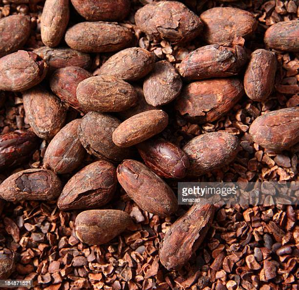 Cocoa beans: whole and ground