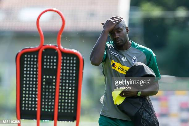 Cocoach Otto Addo of Borussia Moenchengladbach looks on during a training session at the Training Camp of Borussia Moenchengladbach on July 19 2017...