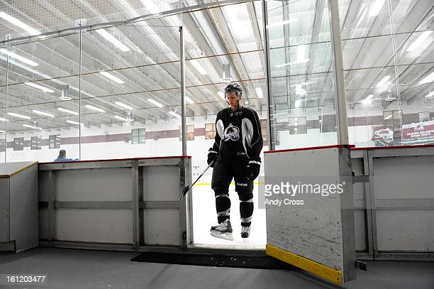 ENGLEWOOD COColorado Avalanche defenseman Duncan Siemens leaves the ice after one of the morning sessions during practice at the Family Sports Center...
