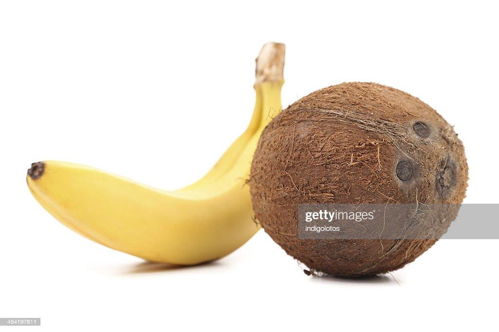 Coconut and Banana. : Stock Photo