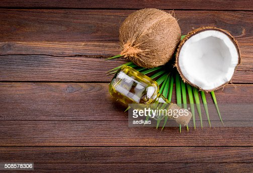 Coconut and coconut oil : Stock Photo