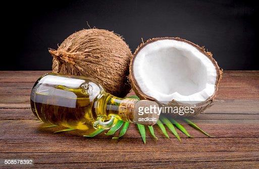 Kokosnuss und Kokosöl : Stock-Foto