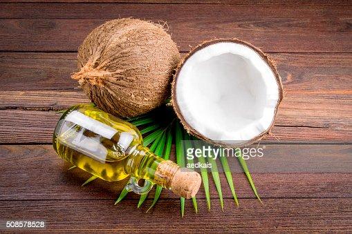 Coconut and coconut oil : Stock Photo