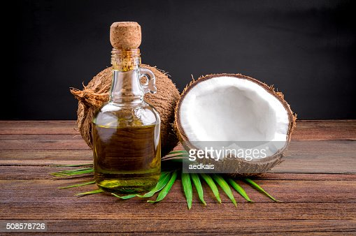 Coconut and coconut oil : Bildbanksbilder