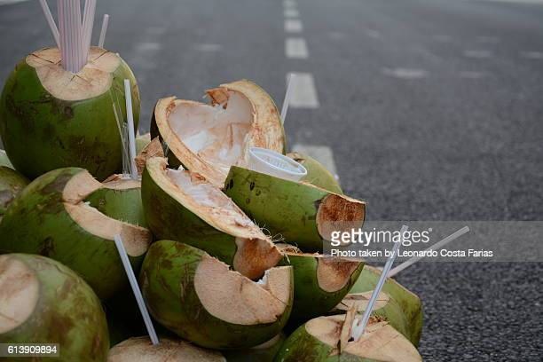 Coconut at road
