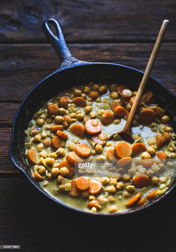 Coconut Curried Chickpeas With Carrots Cashews Glutenfree ...