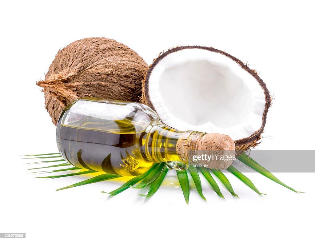 Coconut oil for alternative therapy : Stock Photo