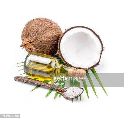 Kokosnussöl für alternative Behandlungsmethode : Stock-Foto