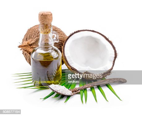 Coconut oil for alternative therapy : Stock Photo