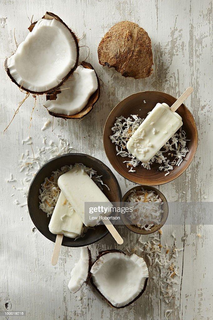 Coconut Popsicles : Stock Photo