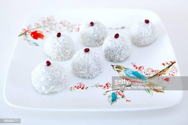 Coconut & red bean mochi