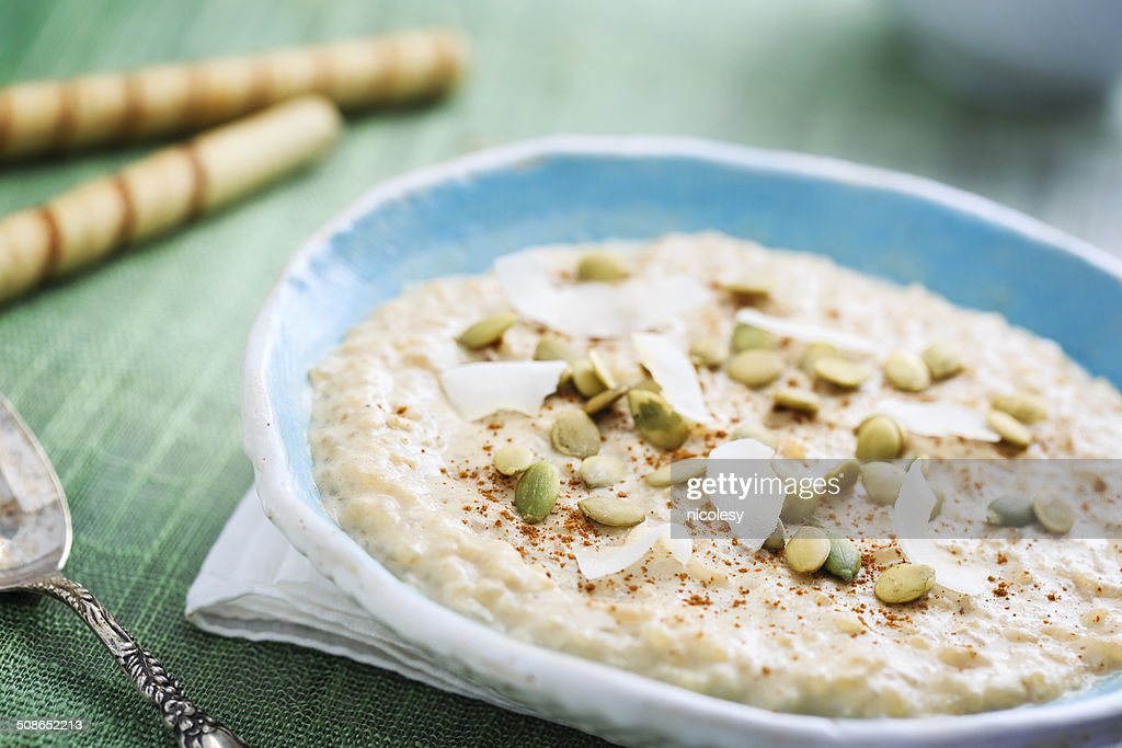 Coconut Rice Pudding : Stock Photo