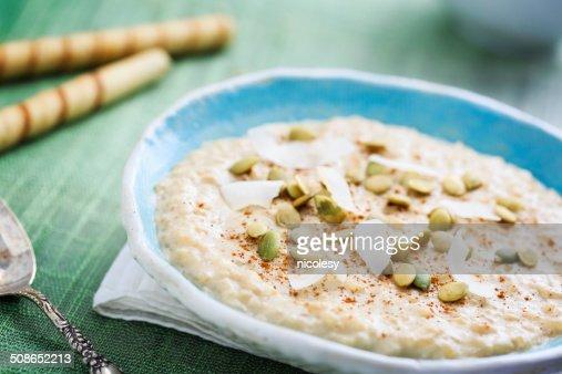 Coconut Rice Pudding : Stock Photo
