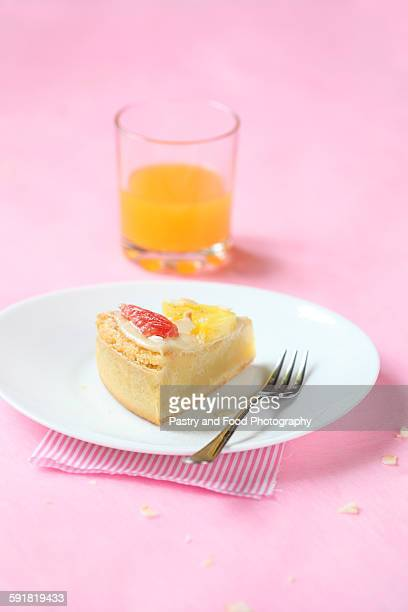 Coconut Tart with Grapefruit and Pineapple