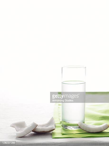 Coconut Water and Fresh Coconut Chunks