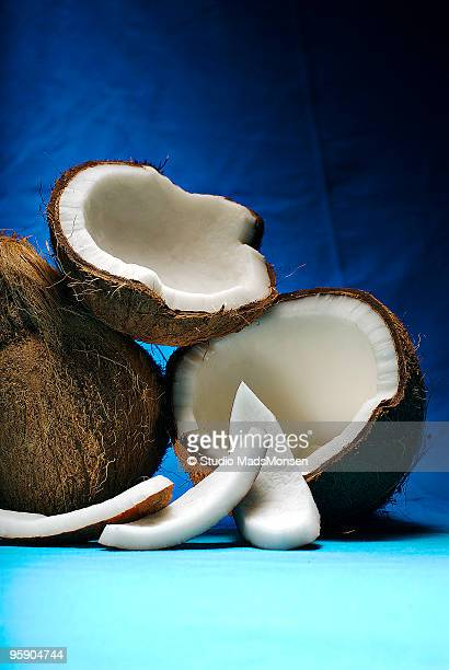 Coconut, whole and sliced