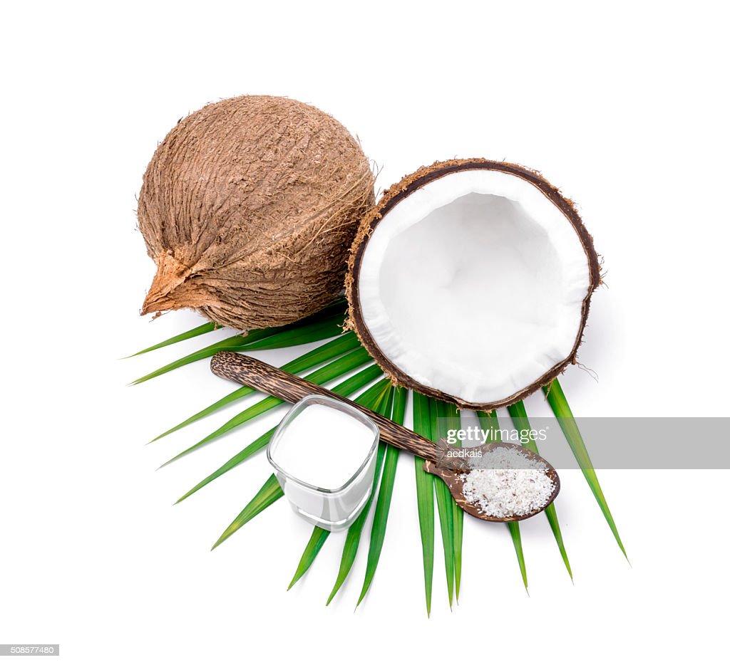 Du lait de coco et noix de coco : Photo