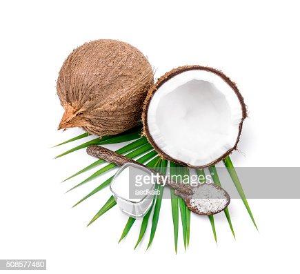 coconuts  and coconut milk : Stock Photo