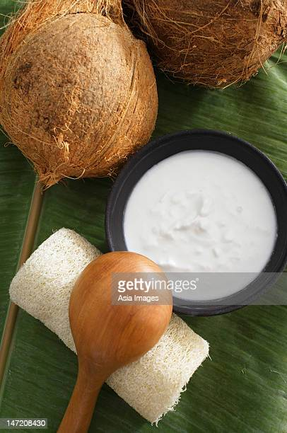 Coconuts and natural coconut body scrub