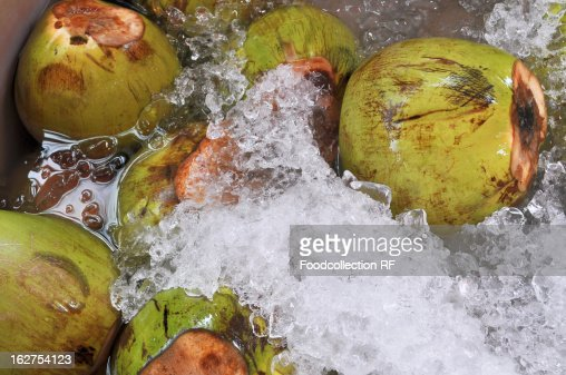 Coconuts on crushed ice
