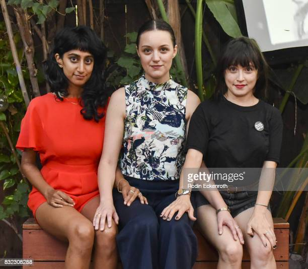 Cocoon Central Dance Team's Sunita Mani Eleanore Pienta and Tallie Medel pose for portrait at the screening of 'Snowy Bing Bongs' at The CineFamily...