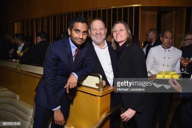 Cocreator Executive Producer Actor Aziz Ansari film producer Harvey Weinstein and VP of Original Series for Netflix Cindy Holland attend the Netflix...