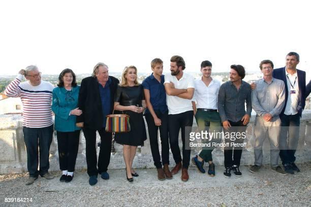 Cocreator of the Festival Dominique Besnehard director Florence Quentin actors Gerard Depardieu Catherine Deneuve Benjamin Voisin Gregoire Ludig and...