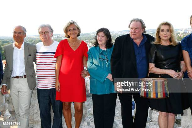 Cocreator of the Festival Dominique Besnehard Valerie Pecresse director Florence Quentin actors Gerard Depardieu and Catherine Deneuve attend the...