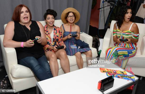 Cocreator/comic strip author Shadi Petosky actors Jasika Nicole Charlyne Yi and Stephanie Beatriz from the television series Danger Eggs stopped by...