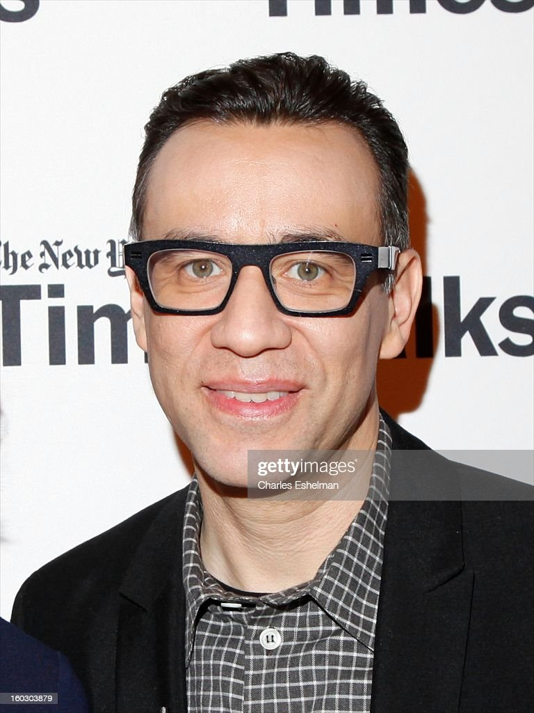 Co-creator/co-writer <a gi-track='captionPersonalityLinkClicked' href=/galleries/search?phrase=Fred+Armisen&family=editorial&specificpeople=221426 ng-click='$event.stopPropagation()'>Fred Armisen</a> attends New York Times TimesTalks Presents: 'Portlandia' at TheTimesCenter on January 28, 2013 in New York City.