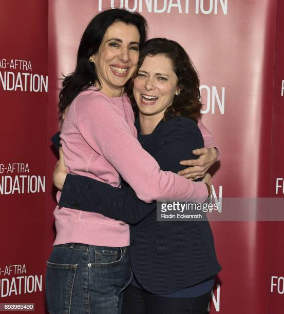 CoCreator/Executive Producer Aline Brosh McKenna and Cocreator/actress Rachel Bloom attend SAGAFTRA Foundation's Conversations with 'Crazy...