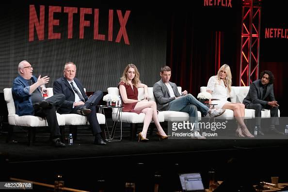Cocreator/executive producer J Michael Straczynski executive producer Grant Hill actors Jamie Clayton Brian J Smith Daryl Hannah and Naveen Andrews...