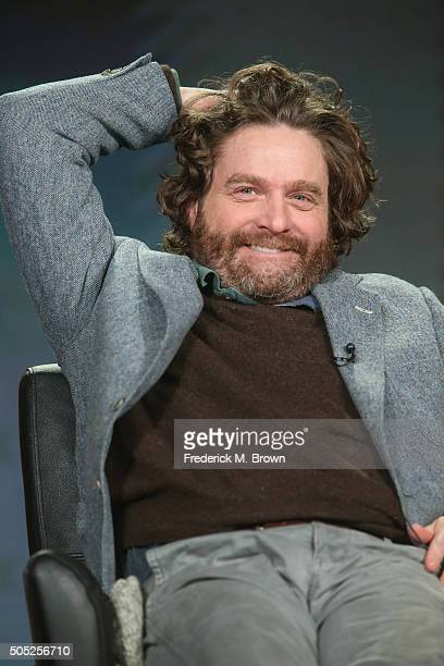 CoCreator/Executive Producer/Actor Zach Galifianakis speaks onstage during 'Baskets' panel discussion at the FX portion of the 2015 Winter TCA Tour...