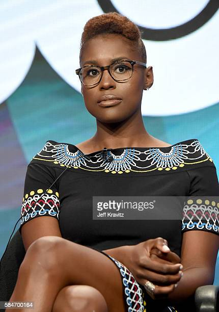Cocreator/executive producer/actress Issa Rae speaks onstage during the 'Insecure' panel discussion at the HBO portion of the 2016 Television Critics...