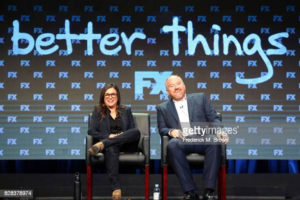 Cocreator/Executive Producer/Writer/Director/Actor Pamela Adlon and Cocreator/Executive Producer/Writer Louis CK of 'Better Things' speak onstage...