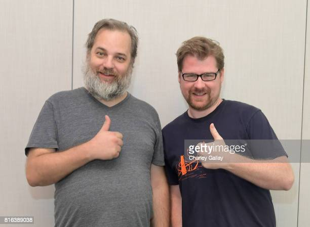Cocreators Dan Harmon and Justin Roiland at the 'Rick and Morty' LA Press Junket on July 17 2017 in Los Angeles California 27168_001