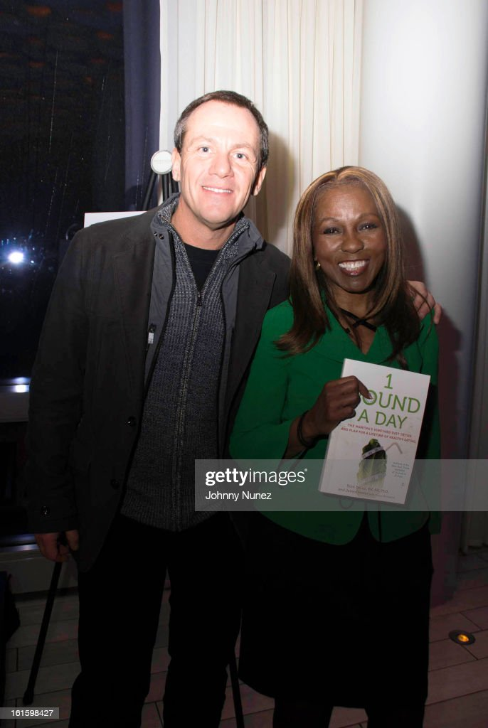 Co-creators of the Martha's Vineyard Diet Detox, James Hester and Roni DeLuz attend the '1 Pound A Day: Martha's Vineyard Diet Detox' Pre-Launch Book Party at Trump SoHo on February 11, 2013 in New York City.