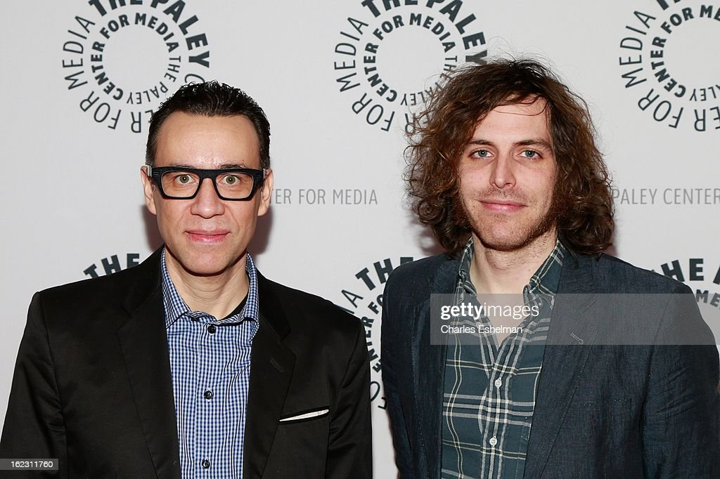 Co-creators/writers <a gi-track='captionPersonalityLinkClicked' href=/galleries/search?phrase=Fred+Armisen&family=editorial&specificpeople=221426 ng-click='$event.stopPropagation()'>Fred Armisen</a> and Jonathan Krisel attend Dream Of... An Evening with <a gi-track='captionPersonalityLinkClicked' href=/galleries/search?phrase=Fred+Armisen&family=editorial&specificpeople=221426 ng-click='$event.stopPropagation()'>Fred Armisen</a> at The Paley Center for Media on February 21, 2013 in New York City.