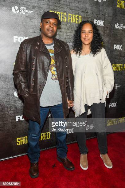 Cocreator/writer/executive producers Reggie Rock Bythewood and Gina PrinceBythewood attend the 'Shots Fired' New York Special Screening at The Paley...