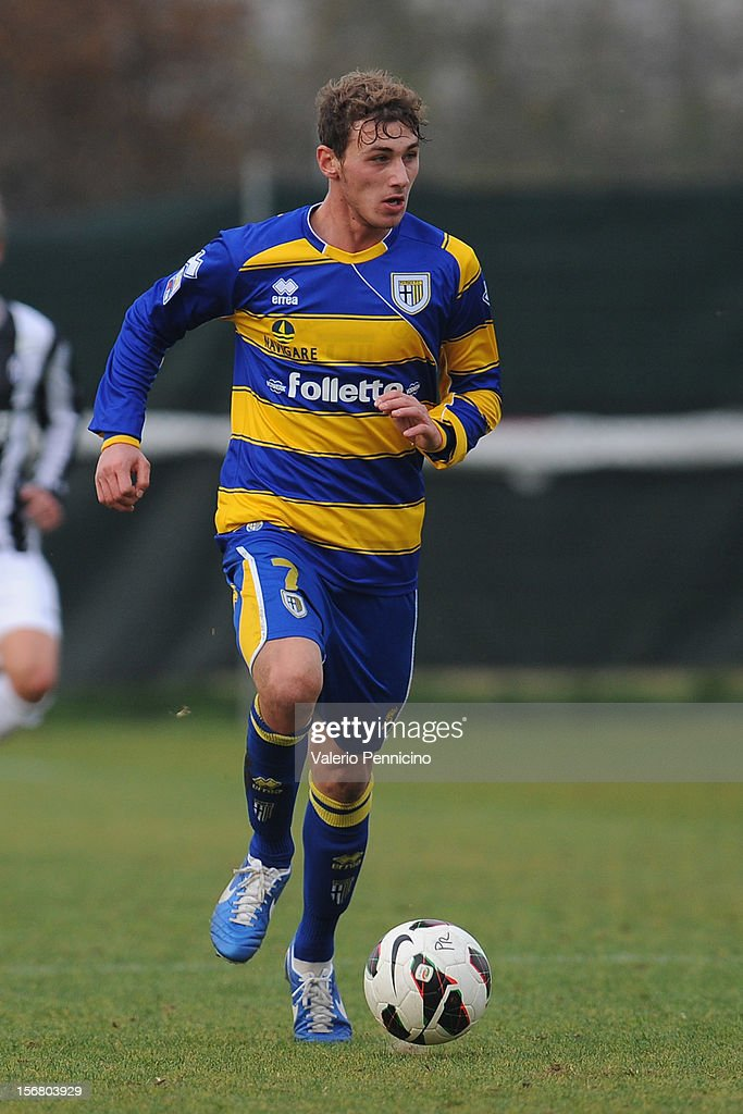 Cocuzza of FC Parma in action during the Juvenile match between Juventus FC and FC Parma at Juventus Center Vinovo on November 21, 2012 in Vinovo, Italy.