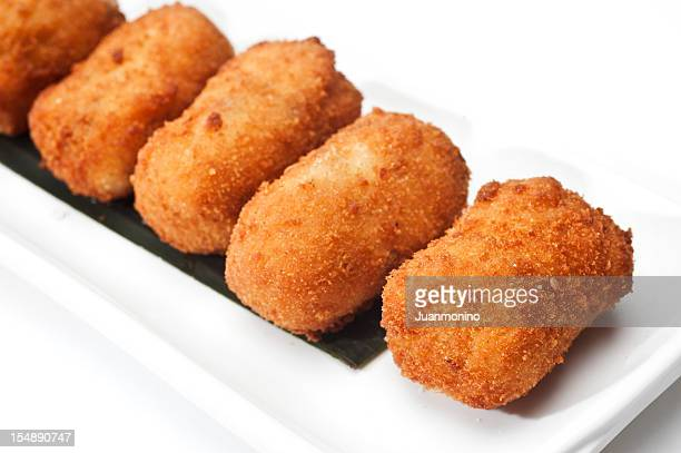 Cod Fish Croquettes on white background