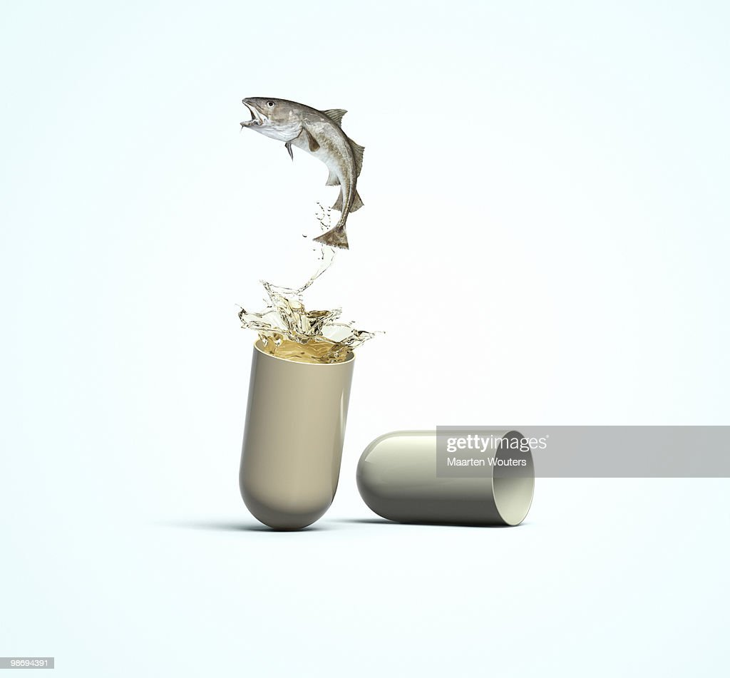 Cod Liver Oil Capsule : Stock Photo