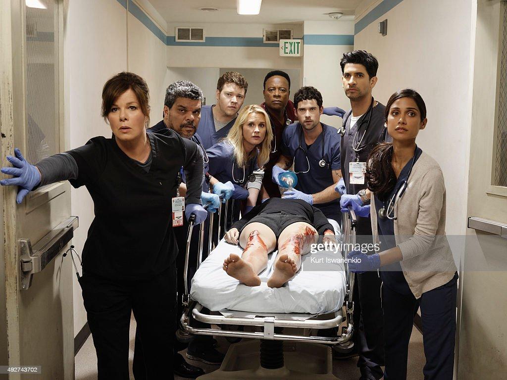 BLACK 'Code Black' stars Marcia Gay Harden as Leane Rorish Luis Guzman as Jesse Sallander Harry Ford as Angus Leighton Bonnie Somervile as Christa...